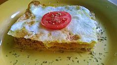"""Ti Küldtétek Recept (A recept beküldője:Kókai Kitti) Lisztmentes paleo lasagne recept Lisztmentes paleo lasagne  Lisztmentes (tojásból készült tésztájú) paleo lasagne recept (SCD, GAPS, KETOGÉN recept)  A """"tészta"""" 1 tojás, 1 ek. vízzel felverve, és palacsintaként megs Paleo Recipes, Low Carb Recipes, Food Tags, Spaghetti Recipes, Italian Pasta, Hamburger, Gap, Pudding, Breakfast"""