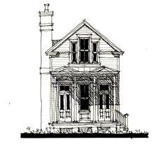 Allison Ramsey Architects | Floorplan for Village Jewel - 982 square foot house plan # C0563