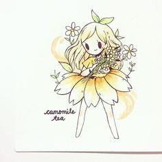 Camomile tea p i n t e r e s t : abbbygiiirl Anime Chibi, Chibi Kawaii, Kawaii Drawings, Cute Drawings, Art And Illustration, Anime Kunst, Anime Art, Desu Desu, Image Manga