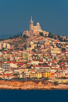 Marseille from If island | France  ...remember visiting le chateau d'If with Dominique & her family