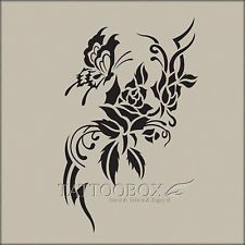 Reusable airbrush stencils templates  - Rose 1 (Large size)