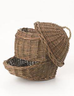 Countertop Potato& Onion Baskets, Set of 2