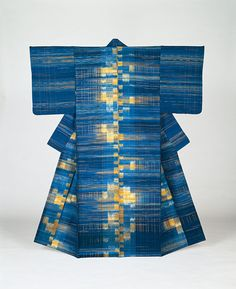 "Lake / Fukumi Shimura Tokyo National Museum of light  ""spinning cage"" than (Motomeryudo / 2015 spring will be released)  Fukumi Shimura's kimono,  was dyed with vegetable dyes  have been woven in silk Tsumugiito (Tsumugiito)."