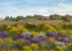 Debbie Shirley Art: Further Afield - Small Acrylic Landscape Painting