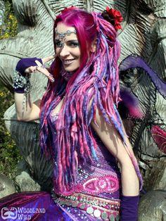 Faery ELFLOCKS Dread Falls in Pink/Purple/Blue. £35.00, via Etsy.