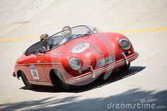 1955 Porsche 356 1500 Speedster at the Mille Miglia