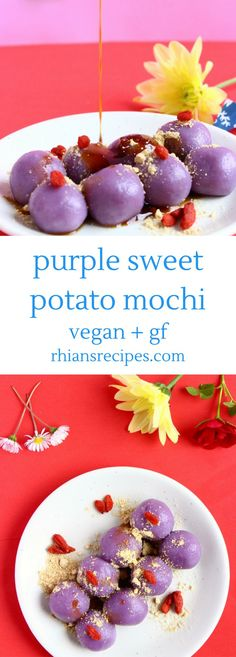 This Purple Sweet Potato Mochi is easy to make, so delicious, and naturally vegan and gluten-free!