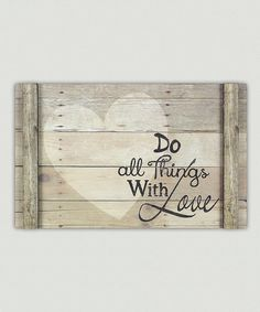 Add sweet styling and an inspirational message to your home decor with this wood wall sign.