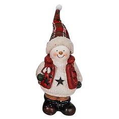 ΚΕΡΑΜΕΙΚΟΣ ΧΙΟΝΑΝΘΡΩΠΟΣ ΜΕ LED    (Υ29cm ΜΕ ΣΚΟΥΦΟ) 17x13x8m Xmas, Christmas Ornaments, Decorative Bells, Led, Holiday Decor, Home Decor, Style, Swag, Decoration Home