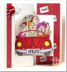 Shoppers set (3569) card by Frances Byrne - Stamp Owl