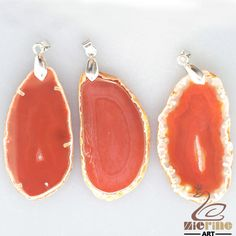 RAW AGATE SLICE PENDANT FOR NECKLACE  LOT 3 PCS GEM ROUGH GEMSTONE GB0000022 #ZL #PENDANT