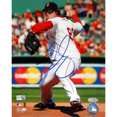 Eric Gagne Red Sox Home Pitching Vertical 16X20 (MLB Auth)