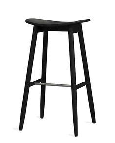 Icha Icha Bar Stool - H 750 Black Stained Ash | Massproductions AB