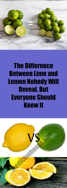 The Difference Between Lime and Lemon Nobody Will Reveal, But Everyone Should Know It – MEDICINE HOUSE