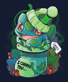 Grass Type Christmas from ShirtPunch Cute Pokemon, Pokemon Go, Pikachu, Christmas Pokemon, Grass Type Pokemon, Day Of The Shirt, Bulbasaur, Christmas Shirts, Crafts