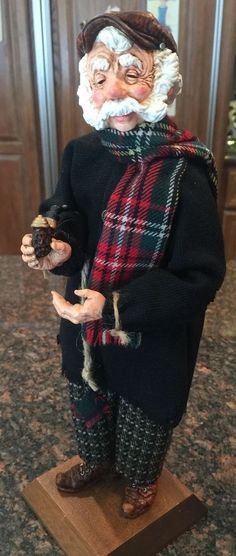 Simpich Doll - Peasant Man with Pipe in hand, 2002 in Collectibles, Holiday & Seasonal, Christmas: Current (1991-Now) | eBay