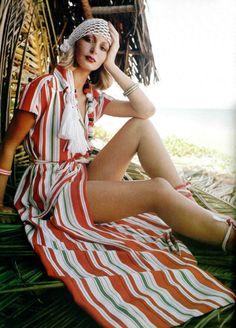 J.L. Scherrer Boutique L'officiel de la mode 1975, turban
