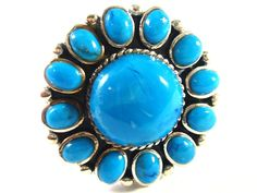 Silver ring with turquoise (Stříbrný prsten s tyrkysy) #tyrkys #tyrkysy #turquoise #turquoisejewelry #turquoisering