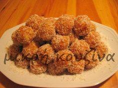 μικρή κουζίνα: Νηστίσιμα τρουφάκια καρότου  της Έλλης Chicken, Meat, Food, Essen, Yemek, Buffalo Chicken, Cubs, Meals, Rooster