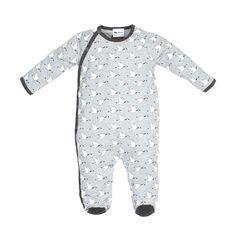 Pyjama Manches Longues Gris - Oies des neiges - L'asticot