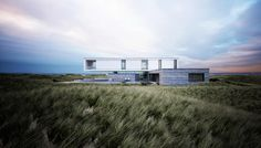 Dune House on the danish North Sea coast on Behance Modern Residential Architecture, 3d Architecture, Mir Rendering, Self Build Houses, Behance, North Sea, The Dunes, New Builds, Beautiful Landscapes