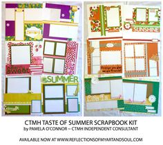 CLOSE TO MY HEART TASTE OF SUMMER SCRAPBOOK KIT by PAMELA O'CONNOR at WWW.REFLECTIONSOFMYARTANDSOUL.COM
