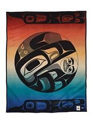 Raven And The Box Of Knowledge. pendelton blankets....Yes please!