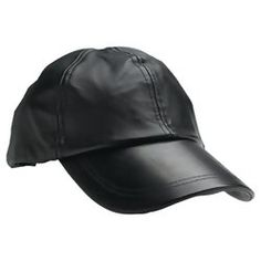 Giovanni Navarre® Solid Genuine Leather Baseball Cap - BLACK $15.99