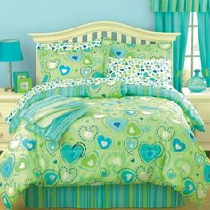 Teen Girl Bedrooms dazzling examples, room styling number 5912650723 - Impressive help to work on a stunning and really cooooool teen girl room. This relaxing teen girl bedrooms decorating ideas purple image imagined on this coooool date 20181219 Aqua Bedding, Blue Comforter, Teen Bedding, Comforter Sets, King Comforter, Teen Girl Bedrooms, Trendy Bedroom, My New Room, Boy Bedrooms
