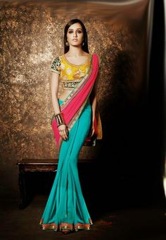 Pink Color Georgette Saree - Rs. 1800.00