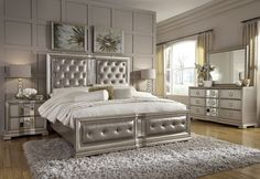 Couture Silver Panel Bedroom Set