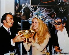 Dali, Bridget Bardot and Gunter Sachs in costume.