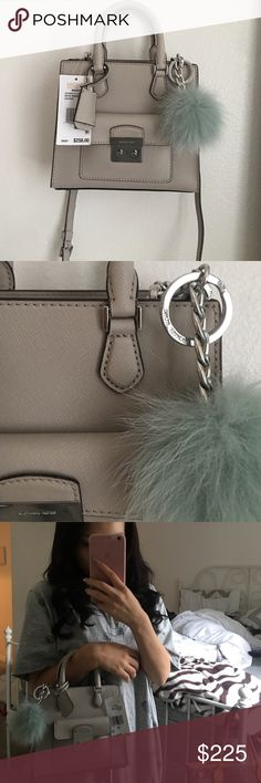 ⭐️NWT⭐️ MICHAEL KORS BRIDGETTE New never used, comes with Michael Kors Rabbit Fur Puffer (sold separately at 48$).                                         ❌NO TRADES❌                                                            DON'T COMMENT OFFERS AND IF YOU CANT AFFORD THEN DON'T OFFER Michael Kors Bags Crossbody Bags