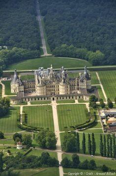Photo aérienne de : Château de Chambord - Loir-et-Cher (41)