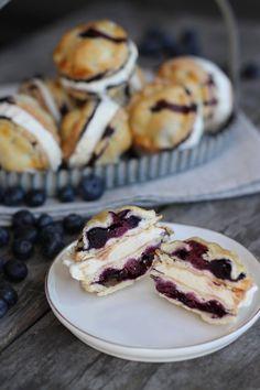 Blueberry Pie Ice Cream Sandwiches by @honestlyyum honestlyyum.com