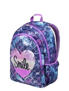 Dye Effect Smile Backpack Justice Backpacks, Justice Bags, Shop Justice, Cute Girl Backpacks, School Backpacks, School Bags For Kids, Kids Bags, School Ideas, Kids Outfits Girls