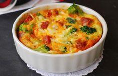 Clafoutis au brocoli et lardons Weight Watchers, un délicieux clafoutis salé facile et rapide à faire pour un repas du soir, accompagné d'une petite salade.