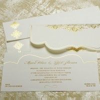 Lace & Pearls Wedding Invitations UK - Charleston - Polina Perri