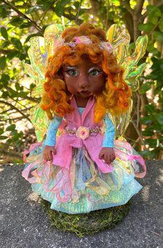 Clay Fairies, Fairy Figurines, Polymer Clay Dolls, Fairy Art, Fairy Dolls, Pixies, Inspirational Gifts, Miniature Dolls, Fantasy Creatures