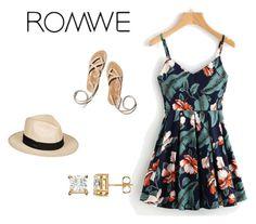 """""""Romwe dress"""" by samlrusche ❤ liked on Polyvore featuring Roxy"""