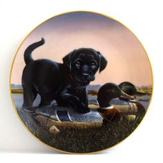 Danbury Mint 1992 Collectible Plate The Sportsmen Finders Keepers Hunting Dog
