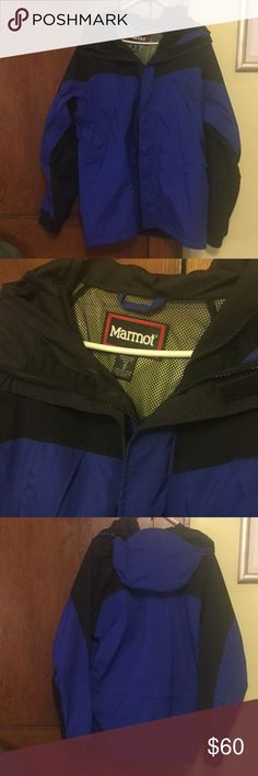 Men's Marmot Goretex Coat Adjustable sleeve cuffs. Pockets about everywhere, hips, chest, under arm breathing zippers and inside hidden pocket. Inside mesh lining with extra snaps for wind proofing. Brand new condition. Gore Tex. Super amazing deal on this coat for winter!! Marmot Jackets & Coats