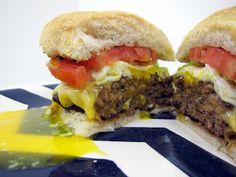 Cadillac Burgers (inspired by P.J. Clarke's in NYC) meat is ground beef & sausage & has a fried egg on top--love egg on my hambugers Hamburger Recipes, Beef Recipes, Hamburger Hotdogs, Hamburger Patties, Beef Meals, Easy Recipes, Meat Markets, Cadillac, Sandwich Recipes