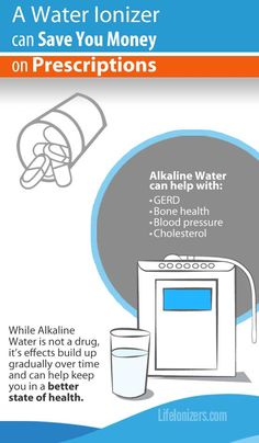 A water ionizer could save you thousands of dollars on medications.