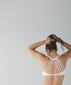 Lighten Up Bra: Show off this extra-strappy bra under your favourite open-back tank as you flow through practice.