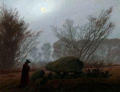 A walk at dusk, by Caspar David Friedrich