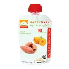 Happy Baby Organic Stage 2 Pouch Foods Apricots & Sweet Potatoes (16x3.5 Oz)