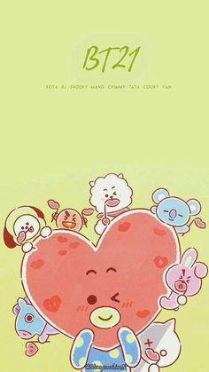 Bts Taehyung, Bts Bangtan Boy, Bts Wallpaper, Iphone Wallpaper, Bt 21, Line Friends, Bts Drawings, Bts Chibi, Bts Fans