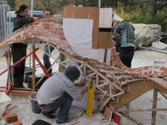 Iieat-a-bug: Masonry Workshop at ETH Zurich Shell Structure, Digital Fabrication, Parametric Design, Workshop Organization, Zurich, Pavilion, Construction, Architecture, Wood