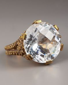 Crystal Quartz Ring by Stephen Dweck at Neiman Marcus and only $240??? A steal.